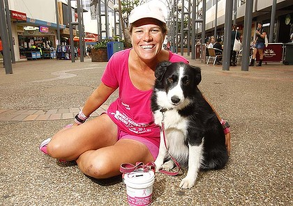 Deborah de Williams and her border collie Maggie