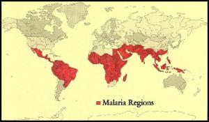 world malaria zones