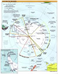 MAP OF ANTARCTIC TERRITORY CLAIMS & BOUNDARIES