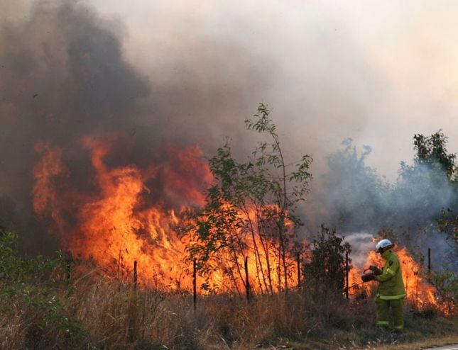 FNQ bushfire - our fire season comes toward the end of the dry season