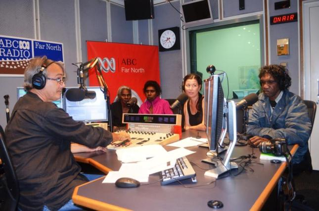 LEFT TO RIGHT DAWN, SHARON, PETA AND JOEL ON AIR AT ABC FAR NORTH