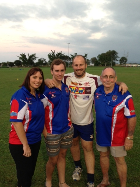 Leah, Zack, Noel and Bruce Slade - Ivanhoes Rugby League Club Cairns