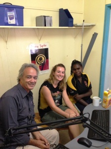 HANGING OUT IN THE 107.7 STUDIO AURUKUN