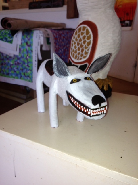 AURUKUN CAMP DOG CARVING