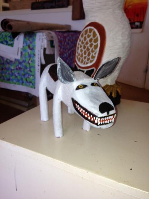 AURUKUN CAMP DOG CARVING