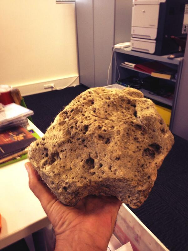BIG CHUNK OF PUMICE FOUND ON FNQ COAST BY PAT SHEARS
