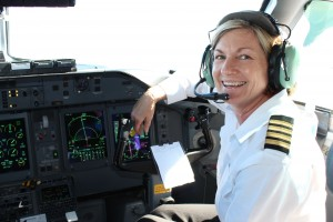 HELENE'S OFFICE IS THE POINT END OF A DASH-8 AIRCRAFT