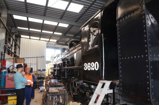 STEAM ENGINE 3620 AT THE NORTH CAIRNS YARDS